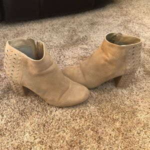 JustFab cream studded ankle boots